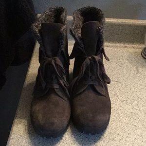 Lucky brand booties, Gray , sz 9.5m